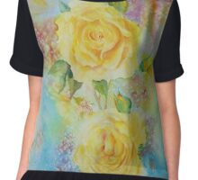 Happy Roses Women's Chiffon Top