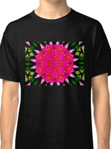 Pink Water Lilly Abstract Classic T-Shirt