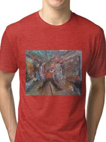 TV NEWS(ABSTRACT VERSION) (C2015) Tri-blend T-Shirt