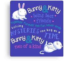 Bunny & Kitty Canvas Print