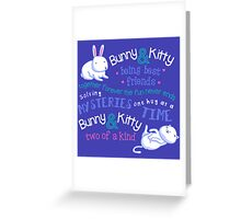 Bunny & Kitty Greeting Card