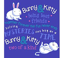 Bunny & Kitty Photographic Print