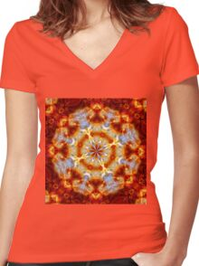 Fire & Ice Women's Fitted V-Neck T-Shirt