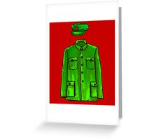 Mao Suit Greeting Card