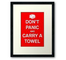 Carry A Towel Framed Print