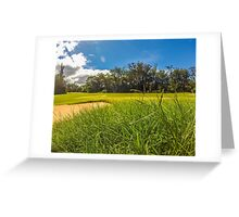 Beautiful Day on the Golf Course Greeting Card