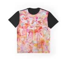 Ethereal Landscape in Orange Graphic T-Shirt