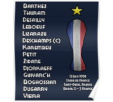 France 1998 World Cup Final Winners Poster