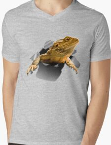 Rippen Lizard Mens V-Neck T-Shirt