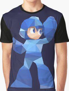 """De-Rezzed Mega Man"" - Low Polygon Art Graphic T-Shirt"