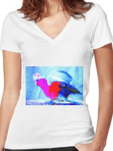 Cocky Fella Women's Fitted V-Neck T-Shirt