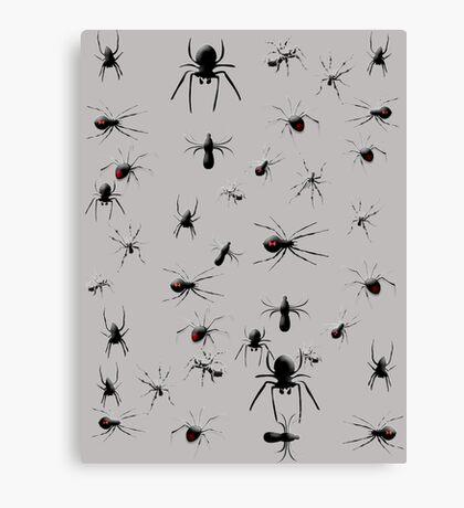 Creepy Spiders Pattern Canvas Print
