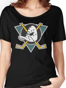 Mighty Ducks of Anaheim Movie NHL Hockey League  Women's Relaxed Fit T-Shirt