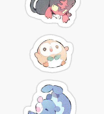Pokemon    sun and moon starter    Cheebs Sticker