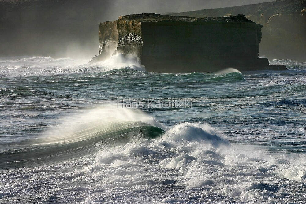 Rock and Waves by Hans Kawitzki