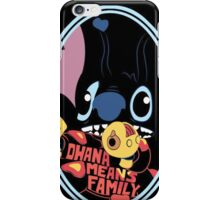 lilo and stitch-ohana means family iPhone Case/Skin