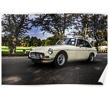 Vintage British MG sports car Poster