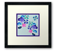 Gorgeous Watercolor Floral Pattern Framed Print