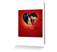 Jamie and Claire Fraser heart Greeting Card