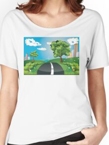 Green Field and City Women's Relaxed Fit T-Shirt