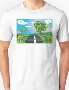 Green Field and City Unisex T-Shirt