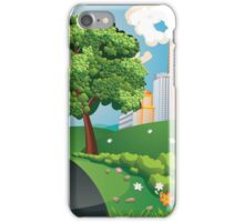 Green Field and City iPhone Case/Skin