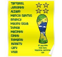 Brazil 1994 World Cup Final Winners Poster