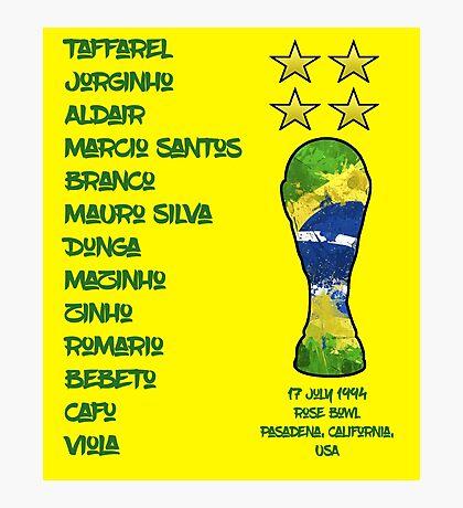 Brazil 1994 World Cup Final Winners Photographic Print