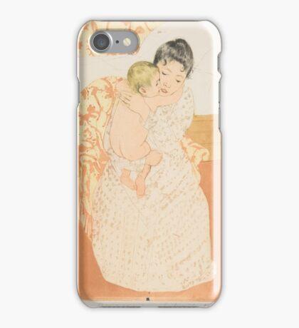 Mary Cassatt, , Maternal Caress iPhone Case/Skin