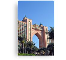 Photography of arch detail from Atlantis hotel from Dubai, United Arab Emirates. Canvas Print