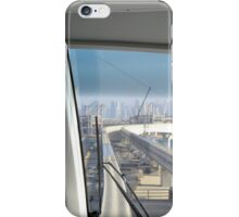 Photography of skyline from Dubai seen from the interior of the metro from palm island, United Arab Emirates. iPhone Case/Skin