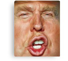 Donald Trump Cartoon Canvas Print