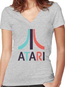 Vintage Gamer Women's Fitted V-Neck T-Shirt