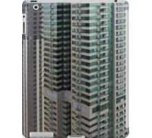 13 March 2016. Photography of pattern created from the facade with windows and balconies from skyscrapers from Dubai, United Arab Emirates. iPad Case/Skin