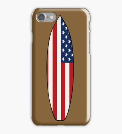 Surfboard (American Flag) iPhone Case/Skin
