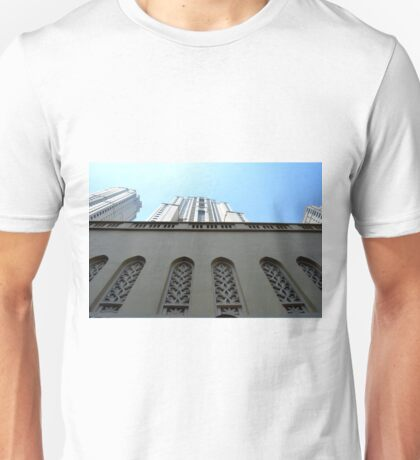 13 March 2016. Photography of tall building seen from the base from Dubai, United Arab Emirates. Unisex T-Shirt
