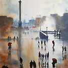 Trafalgar Square After Rain by LordOtter