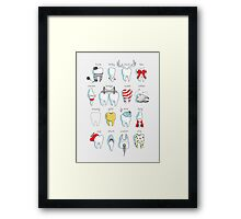Dental Definitions Framed Print
