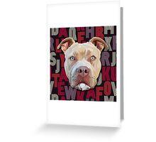 Pitbull Dog Greeting Card
