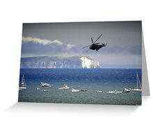 Chopper Over The Needles Greeting Card