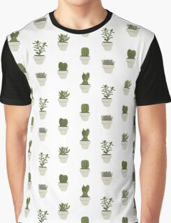 Cacti & Succulents (White) Graphic T-Shirt