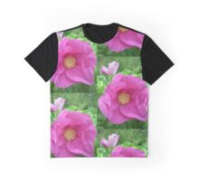 Wild Rose Glorious Pink Beauty Graphic T-Shirt