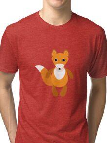 Cute fox pattern Tri-blend T-Shirt