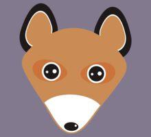 Cute fox face pattern Kids Tee