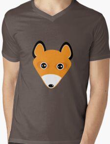 Cute fox face pattern Mens V-Neck T-Shirt