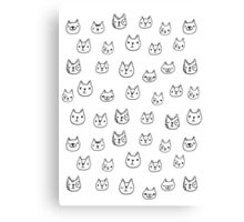Sketchy cats Canvas Print