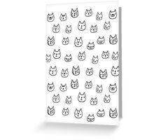 Sketchy cats Greeting Card