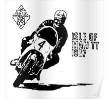 ISLE OF MAN TT 1967 VINTAGE ART Poster