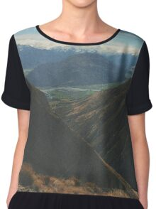 On Top Of Mountains Chiffon Top