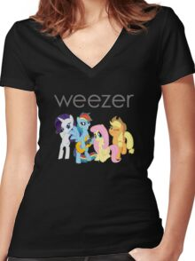 Weezer Pony Women's Fitted V-Neck T-Shirt